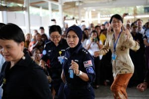 Leading women celebrating Women's international day by doing their job