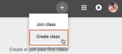 create a classroom