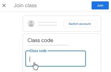 join a classroom by a code