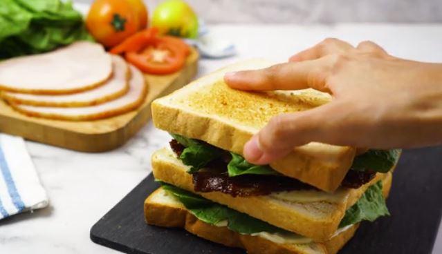 add bread to club sandwich